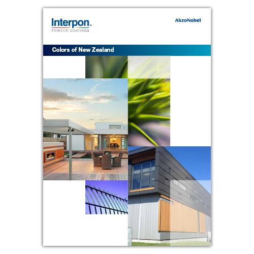 Interpon Colors of New Zealand Color Card