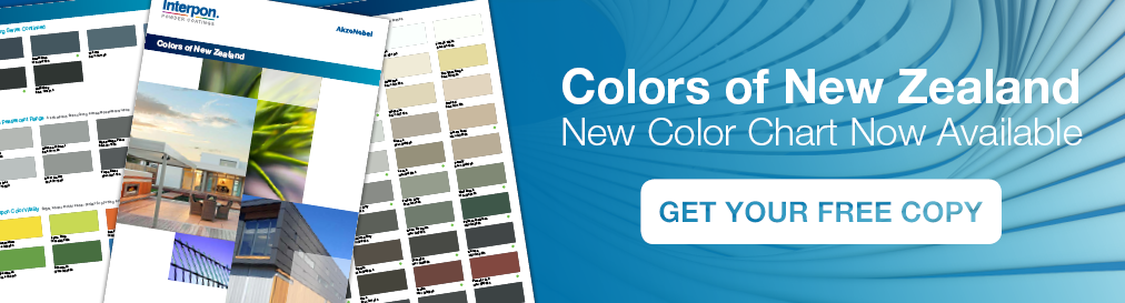 Interpon Colors of New Zealand Color Chart