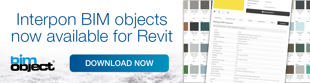 Interpon BIM Objects for Revit now available for free download